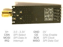 nRF24L01P Plus 2.4GHz wireless data communication module - smarter electronics by universal solder