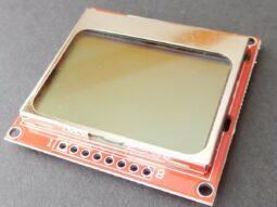 Nokia 5110 serial LCD screen 84 x 48 for Arduino Atmel PIC Raspberry