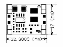 2 Pcs. Super Mini DC-DC Converter 0.8-20V 3A, 22 x 17mm