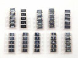 50 pcs SMD 2512 Alloy Power Shunt Resistors 1 to 100mΩ, 2 Watt